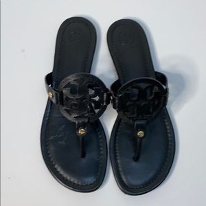 TORY BURCH MILLER SANDAL IN BLACK 8.5